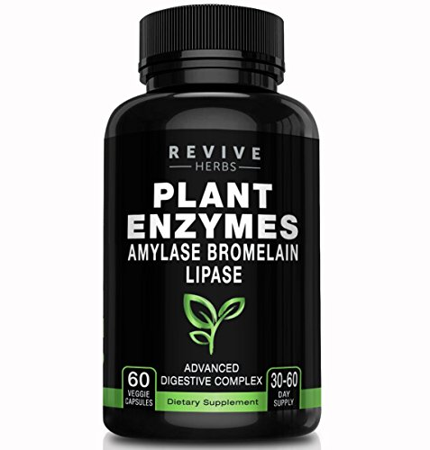 Advanced Plant Based Digestive Enzymes - Aspergillopepsin, Amylase, Bromelain, Lipase, Protease, Papain & More - Supports Gastrointestinal & Immune Health & Overall Digestion