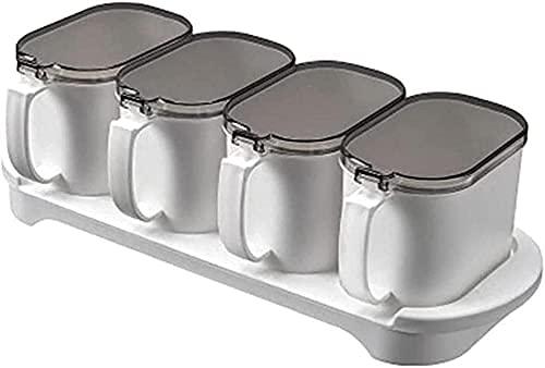 Kruidendoos Keukendoos Huishoudelijke Clamshell Box 4 Scoop Zout Shaker Kruiden Kruidendoos Kruiden potten WSYGHP