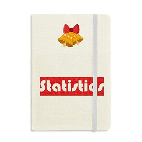 Curso Y Estadísticas Principales Cuaderno Rojo Diario mas Jingling Bell