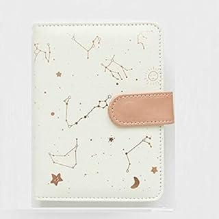 دفتر سجل قصاصات ZJJUN 2453 مبتكر للكوكبة دفتر دفتر المذكرات كرات، غطاء ناعم، مذكرات كرات، لوازم المكتب المدرسية، (أسود) ابيض