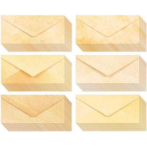 Aged Stationary with Envelopes, Vintage Style (48 Pack)