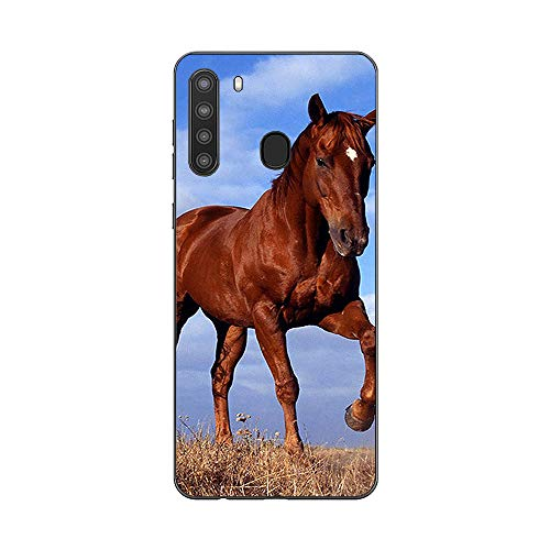 MightySkins Skin for Samsung Galaxy A21 - Horse | Protective, Durable, and Unique Vinyl Decal wrap Cover | Easy to Apply, Remove, and Change Styles | Made in The USA (SAGA21-Horse)