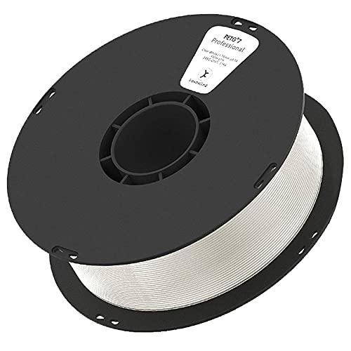 Filamento de impresora 3D, filamento PETG K6 1.75mm, material PETG modificado, resistente al calor, contacto de grado alimenticio, 1kg transparente (2.2 lbs) de carrete, 340 metros