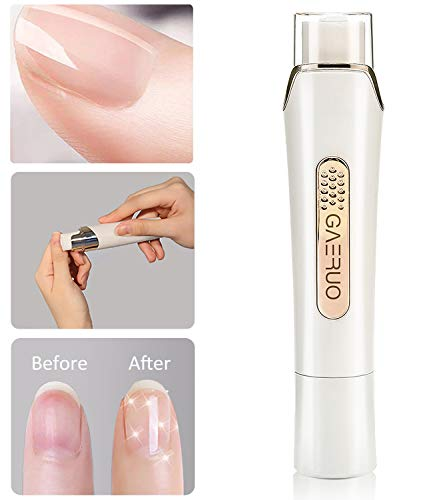Premium Electric Manicure Pedicure Tool, Rechargeable Nail Buffer and Polisher, Easily File and Shine Fingernails, Toenails for Naturally Beautiful Looking Nails (Standard Package) (Standard Package)
