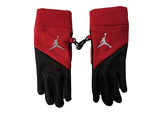 Nike Jordan Youth Touch Screen Fleece Tech Gloves (Gym Red (9A1874-R78) /Black/Reflective Silver, 8/20)