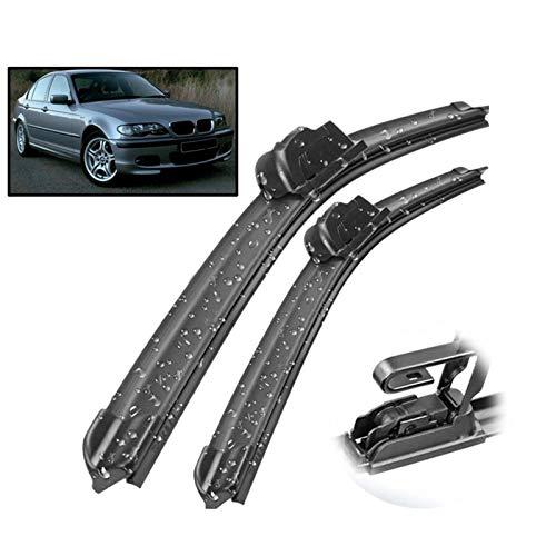 Hojas Repuesto Escobilla Limpiaparabrisas De Coche para BMW 3 Series M3 E46 1998-2006 Parabrisas Ventana Delantera 20'22' Accesorios Mute