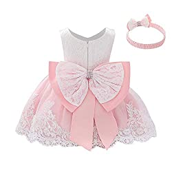 Pink-A Color Tutu Dress With Rhinestones for Baby