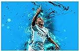 ZYHSB Raheem Sterling Manchester City Carteles De Estrellas De Fútbol Rompecabezas De Madera 1000 Piezas Juguetes para Adultos Juego De Descompresión Me271Nr