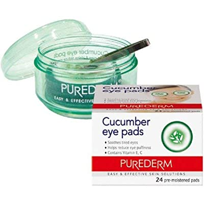 Purederm Cucumber Eye Pads - 24 pre-moistened pads from Adwin Korea Corp
