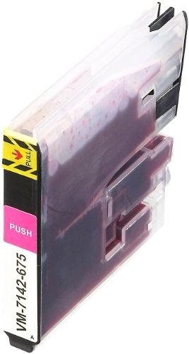 iColor Alternative Patronen: Tintenpatrone für Brother (ersetzt LC980/LC1100), Magenta (Brother Mfc 5890cn)