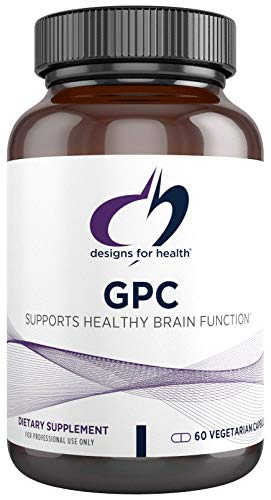 Designs for Health GPC Capsules - 300mg Alpha-Glycerophosphocholine, Vegetarian GPC Choline Supplement - Supports Healthy Brain Function (60 Capsules)