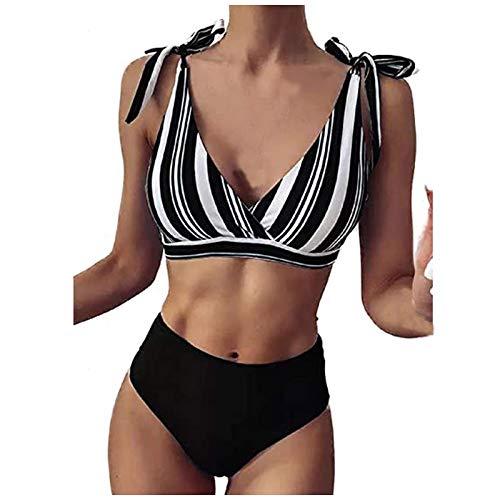 NISOWE Frauen Bandeau Bandage Bikini Set Push-Up brasilianische Badebekleidung Beachwear Badeanzug