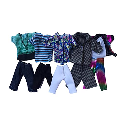 Playset Doll Toy Clothing Summer Sport Fashion Shirts and Shorts for Ken Doll Toy Doll Random Style 5set