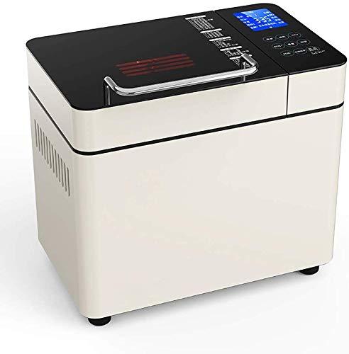 ALYR automáticos Panificadora, Panificadoras Temporizador de Retardo 28 programas 1 Hora Mantener Caliente para Home Bakery,A