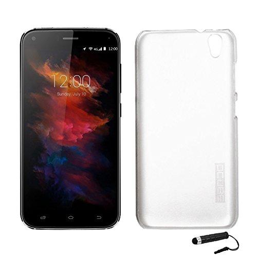 Tasche für UMIDIGI Diamond/ UMIDIGI Diamond X Hülle, Ycloud Handy Backcover Kunststoff-hard Shell Hülle Handyhülle mit stoßfeste Schutzhülle Smartphone Weiß Transparent