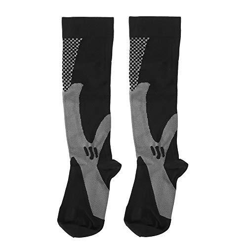 Chaussettes de course à pied de compression, chaussettes de compression unisexe(L/XL -Noir)