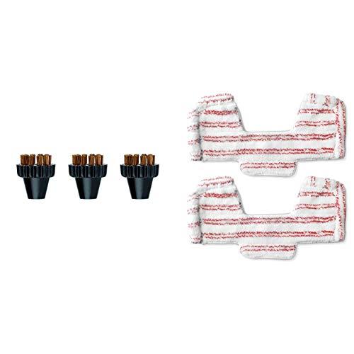 Polti paeu0297 kit 3 spazzolini, setole in ottone & paeu0286 kit 2 panni universali per bumper unico