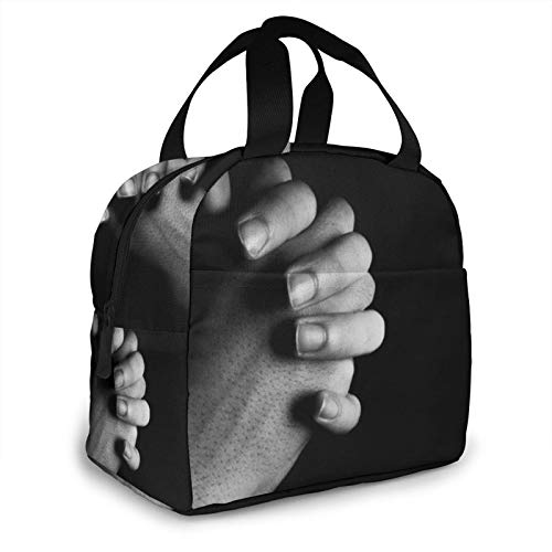 Pray For The World C-oronavirus Portable Lunch Bag, Reusable Thermal Insulation Lunch Box for Travel/Picnic/Work/School