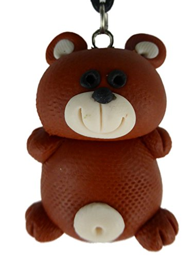 Kette Halskette mit handgemachter Figur braun Teddy Bär Teddybär kuscheln 1280