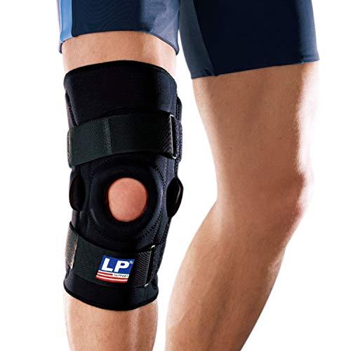 LP Support Knieorthese 710 mit Gelenkschienen (XS - 3XL), Größe:L, Farbe:schwarz