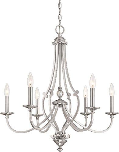 Minka Lavery Chandelier Lighting 3336-84 Savannah Row, 6-Light 360 Watts, Brushed Nickel