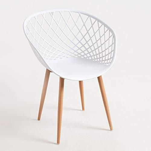 Sillas De Comedor Blancas Y Metal sillas de comedor blancas  Marca Regalos Miguel