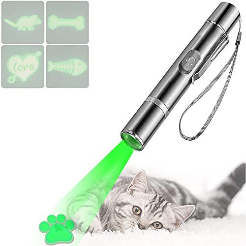 PUTEKCO LED Chaser Spielzeug Katze, USB Wiederaufladbares Multimode Interaktives Katzenspielzeug, LED Licht Spielzeug für Haustiere Trainingsgerät