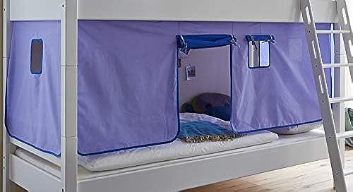 Froschk g24 Vorhang Set 20768 Blau Delphin Hochbett Etagenbett Stoffset 3tlg