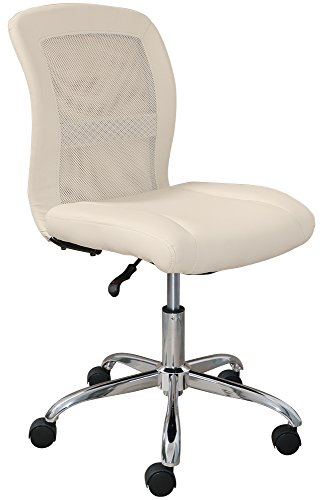 Serta Essentials Computer Chair, Inspiration Cream Faux Leather and Mesh