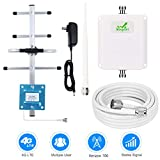 Verizon Cell Phone Signal Booster 4G LTE Verizon Cell Phone Booster Amplifier FDD 4G Mobile Signal Booster Repeater 65dB 700MHz Band 13 for Home Use - Boost 4G Data and Voice for Remote Area
