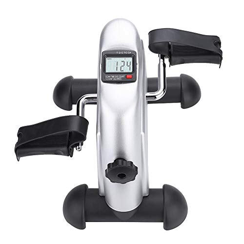GOTOTOP Mini bicicleta estática Fitness Pedal de casa ajustable movimiento Trainer del brazo y la pierna con monitor LCD ajustable resistencia bicicleta fitness bicicleta entrenamiento
