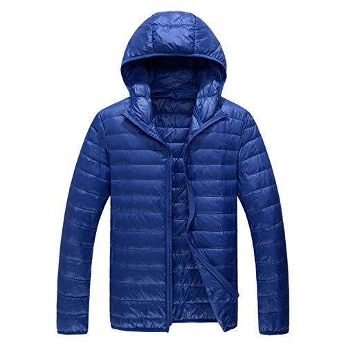 WLZQ Winter Mens Cotton-Padded Clothes, Mens Aunty Hooded Cotton-Padded Jacket, Lightweight Jacket, Down Cotton Mens Cotton-Padded Jacket, Jacket Sapphire