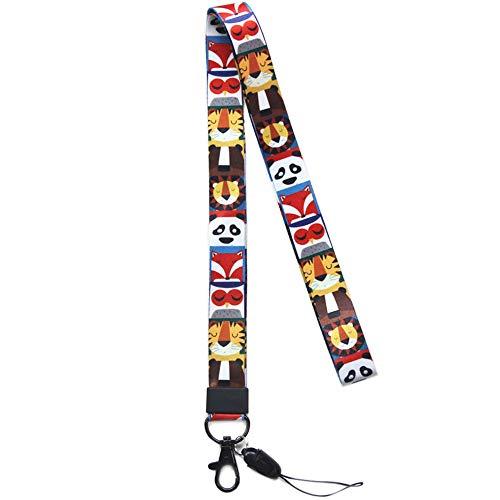 Correa para el cuello de gran calidad con estampado de colores por los dos lados, ideal para móviles, acreditaciones, llaves, USB, MP3, color Estilo 52