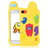 Darnew Among Yellow Funda para iPhone 6S/7/8/SE 2020,Dibujos Animados Lindo Moda Suave de TPU Diseño de Gracioso Divertido Frio para Us Niños y Niñas Mujer,Casos para iPhone 6S/7/8/SE 2020