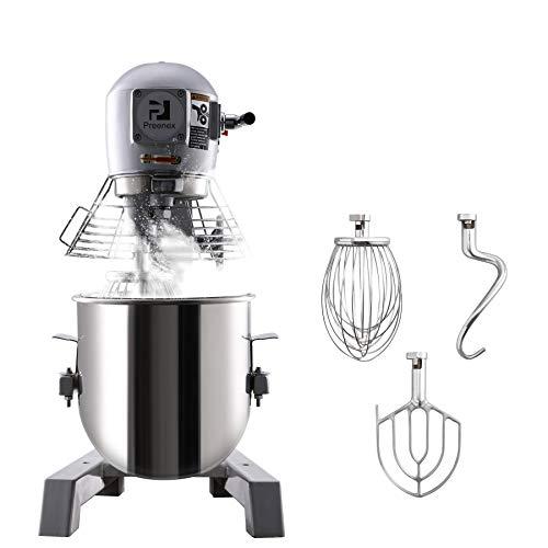 VONLUCE 15L Impastatrice Planetaria Multifunzione Robot da Cucina per Pane, Pizza, Pasticceria con Ciotola in Acciaio Inossidabile Impastatrice da Cucina Professionale 600W (15 L)