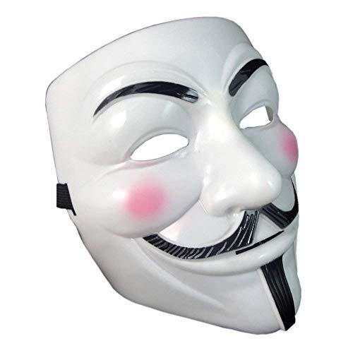 Onceall V per Vendetta Guy Fawkes maschera Fancy Halloween Cosplay
