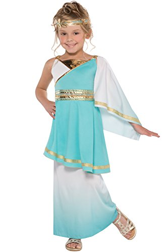 Venus Roman Goddess Girls Fancy Dress Grecian Toga Greek Childrens Child Costume (Small Ages 6-8)