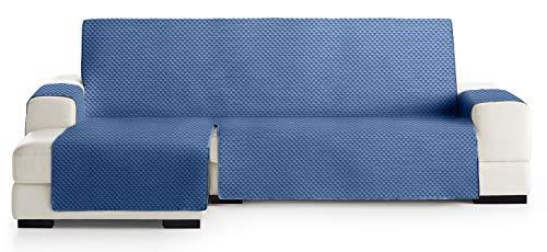 JM Textil Couvre canapé d'angle Elena, Protection matelassée pour canapé d'angle à Gauche. Taille -290cm. Couleur Bleu 03 (VU DE Face)