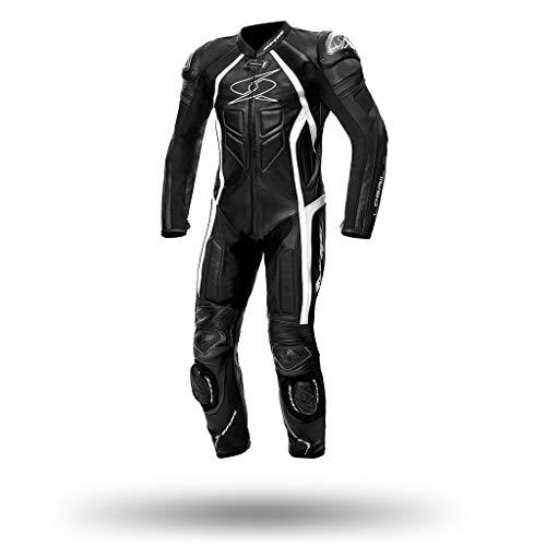 Spyke Tuta pelle intera mod. Losail Race black white (58)