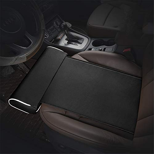 GPFDM Car Extended Seat Leather Cushion,Car Seat Thigh Support Pillow, Comfort Leg Support Pillow for Long-Distance Driving,D