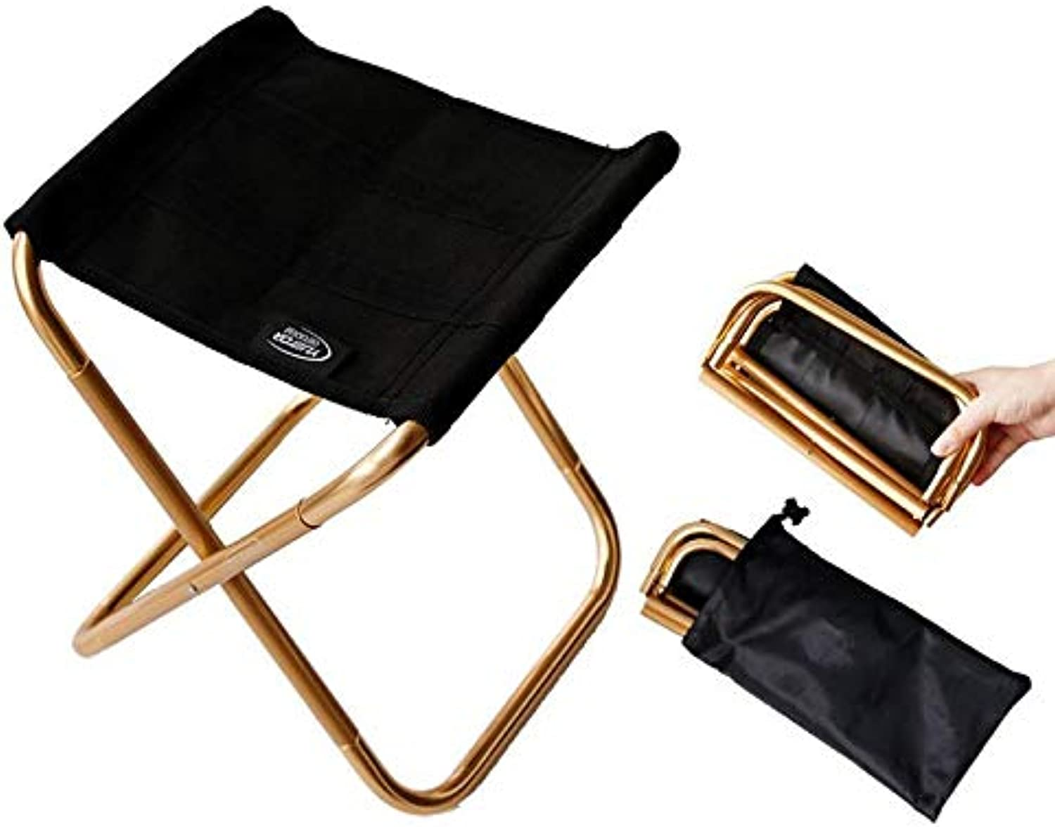 LFJXBF Folding Stool Portable Lightweight Aluminum Alloy Chair for Camping Fishing Travel and Other Outdoor Activities
