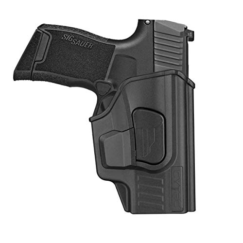 Sig P365 Holsters, OWB Holster for Sig Sauer P365 Micro-Compact Size 9mm, P365 XL, P365 SAS, Polymer Tactical Outside The Waistband Carry Belt Holster with 360° Adjustable Cant/Direction -RH