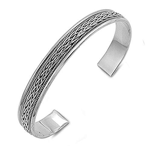 TreasureBay Keltischer Zopf Armreif Damen Armband 925 Sterling Silber