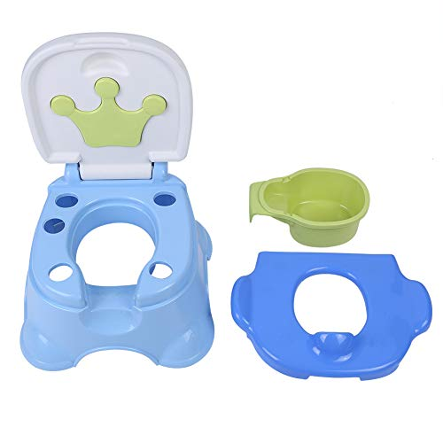 Potty Training Seat,3-in-1 Portable Anti-Slip Kids Potty Training Toilet Seat/Step Stool/Chair for Baby Toddler Approx 1500g