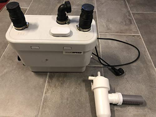 SFA 0008P Pompe de relevage SANIVITE Plus | évacue Les eaux usées de lavabo, Douche, Bidet, Baignoire, Linge et Lave-Vaisselle, Blanc