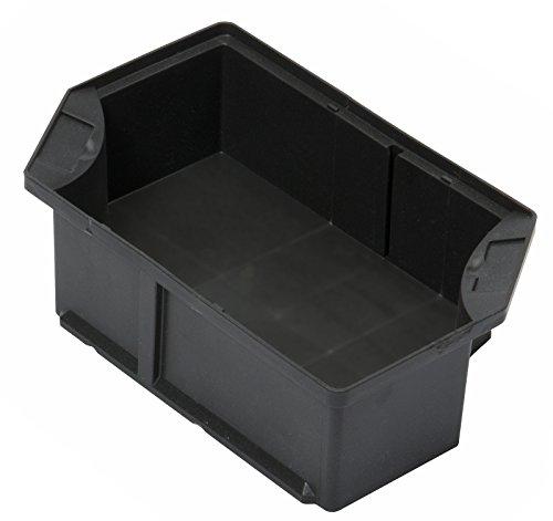 Einsatzkasten zur Viertel-Teilung von Euro- und KLT-Lagerbehältern mit 600x400 mm Grundmaß (LxB), durch Trennwände unterteilbar, VE=8 Stück