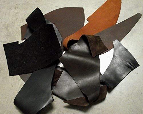 Förster-Fellnest Lederreste, Lederstücke von kräftigem Rindleder, Dickleder - für Messerscheide, kleine Tasche, Riemen a.d. Rüstung usw.