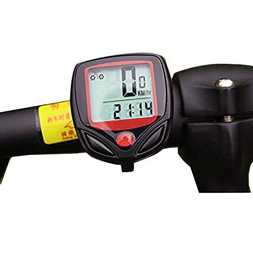 Computer di bicicletta,Contachilometri Bici ,Impermeabile bici computer per Tachimetro Bici Ciclocomputer con Display Retroilluminato,Rilevazione della Velocità, Chilometraggio