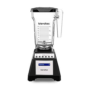 Blendtec Total Classic Original Blender - Fourside Jar  75 oz  Professional-Grade Power-6 Pre-Programmed Cycles-10-Speeds Black
