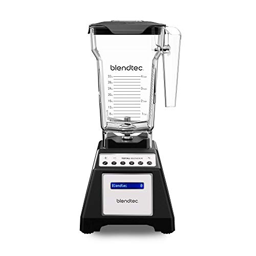 Blendtec Total Classic Original Blender - Fourside Jar (75 oz), Professional-Grade Power-6 Pre-Programmed Cycles-10-Speeds, Black